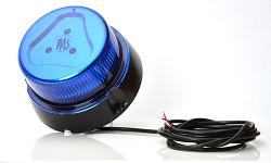 Maják modrý 853.4 LED 12/24V; 8 funkcí; pro přímou montáž