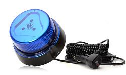 Maják modrý 853.2 LED 12 / 24V; 8 funkcií; s magnetom; do autozásuvky