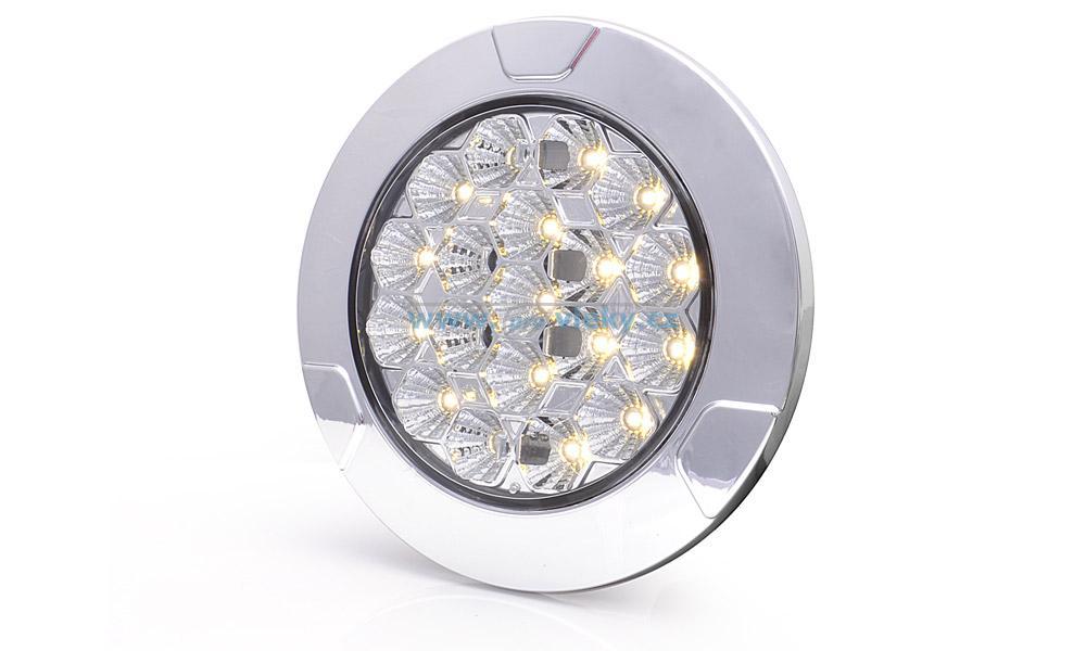 Vnitřní LED svítilna kulatá 991 12-24V čirá