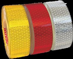 Reflexní páska žlutá / 1m na plachtovinu