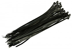 Stahovací pásky 200x2,5mm černé / 100ks