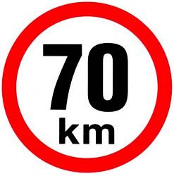 Samolepka rychlosti 70 km