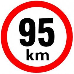 Samolepka rychlosti 95 km