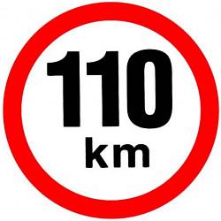 Samolepka rychlosti 110 km 19cm