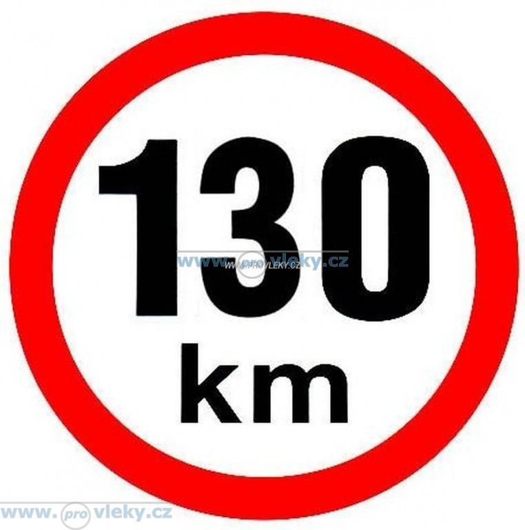 Samolepka rychlost 130 km/hod - Náhradní díly - Samolepky - omezení rychlosti