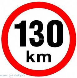 Samolepka rychlost 130 km/hod