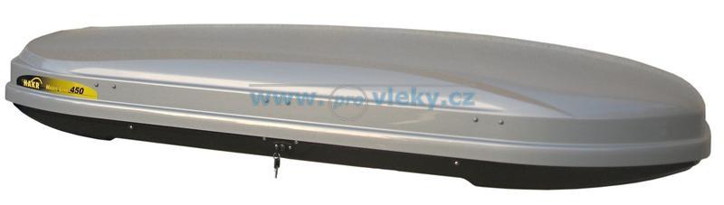 Střešní box Hakr Magic Line 450 šedý lesk ABS