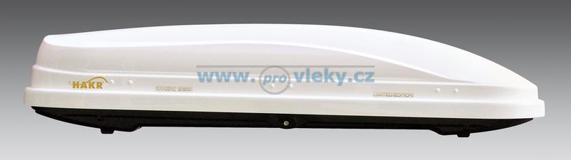 Střešní box Hakr Magic Line 320 bílý ABS