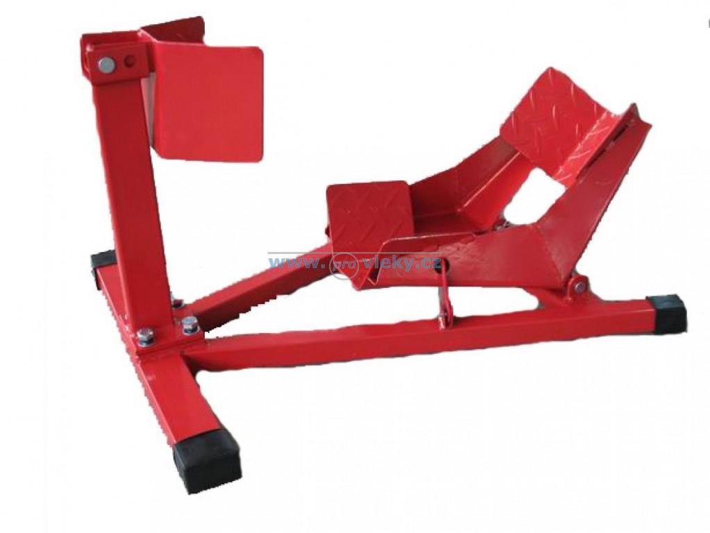 Úchyt motocyklu 65x49x45cm odnímatelný červený