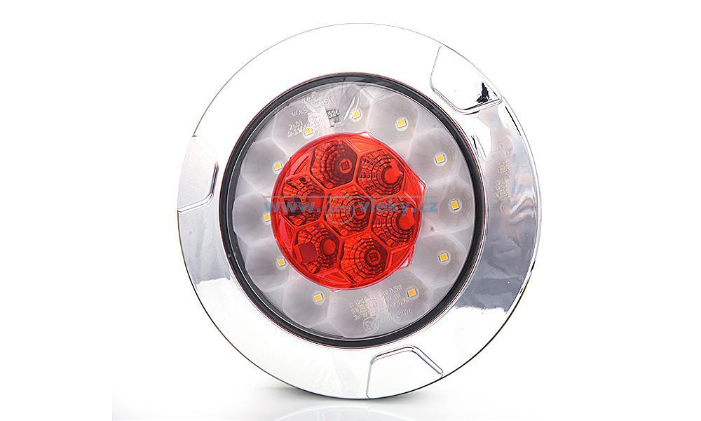 Zadní svitilna WAS 1092 LED kulatá couv/mlha