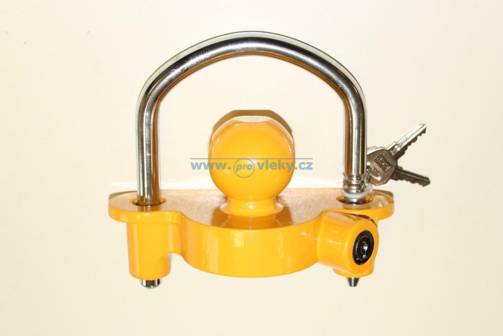 Zámek do tažného kloubu žlutý  B336 - Náhradní díly - Zámky + zabezpečení přívěsů