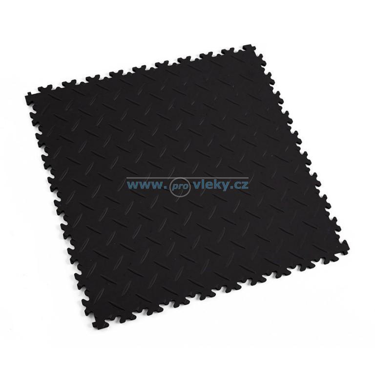 PVC dlaždice Fortelock ECO černá diamant 51x51cm