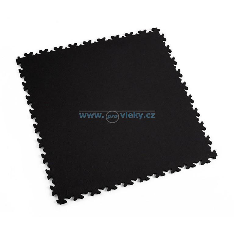PVC dlaždice Fortelock ECO černá kůže 51x51cm