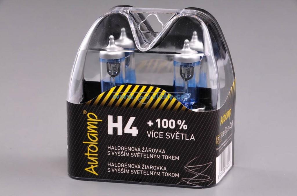 Autožárovka 2ks Autolamp H4 12V 60/55WW P43t +100%