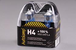 Autožiarovka 2ks Autolamp H4 12V 60/55WW P43t +100%