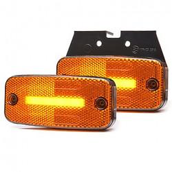 Boční oranžová svítilna LED WAS 1134 neon s odrazkou