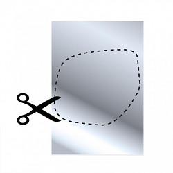 Zrcadlo samolepící na fólii 253x178mm