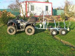 Přívěsný vozík za čtyřkolky Forester X2 - vyvážeč dřeva