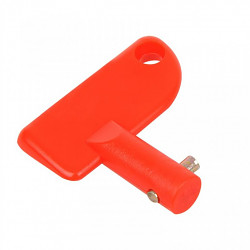 Plastový kľúč pre vypínač autobatérie červený