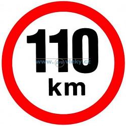 Samolepka rychlost 110 km/hod 15cm