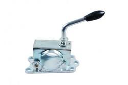 Držák opěrného kolečka pr.48mm litinový s kličkou
