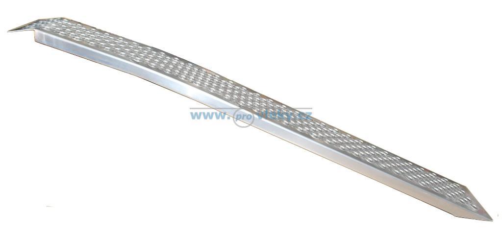 Nájezd hliníkový prohnutý 1500x200x30mm; nosnost 200kg/ks - Náhradní díly - Nájezdy