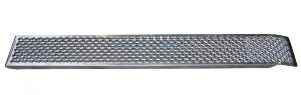 Nájezd hliníkový rovný 1500x200x30mm; nosnost 200kg/ks - Náhradní díly - Nájezdy