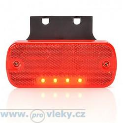 Svítilna poziční W128 červená LED vč. odrazky