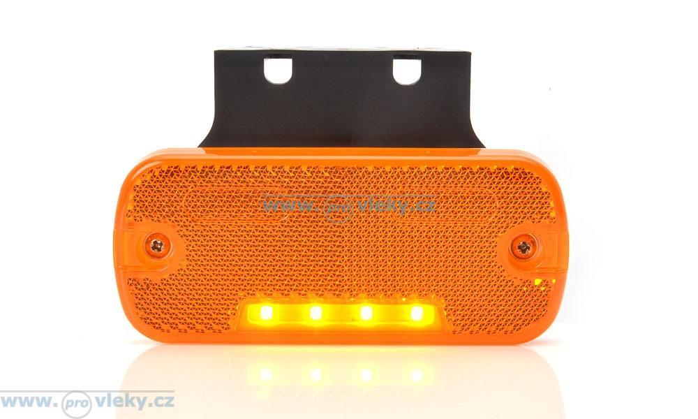 Svítilna poziční W128 oranžová LED vč. odrazky - Náhradní díly - Poziční světla