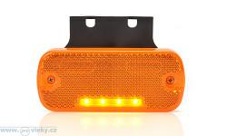Svítilna poziční W128 oranžová LED vč. odrazky
