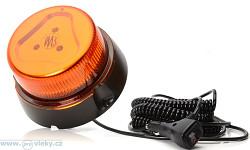 Pracovní výstražný maják W126 866.2 LED; magnetické uchycení; do autozásuvky
