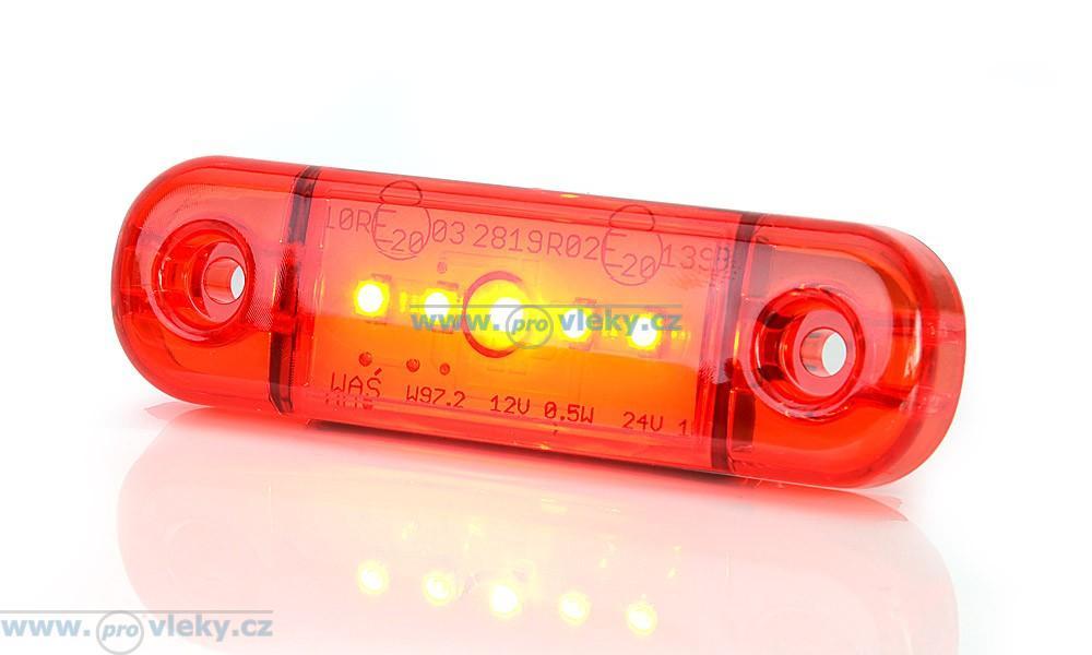 Poziční svítilna W97.2 červená LED - Náhradní díly - Poziční světla