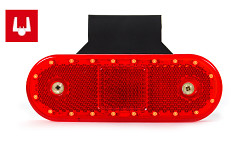 Positionsleuchte hinten rot 535ZJ LED Click-in 1.5mm