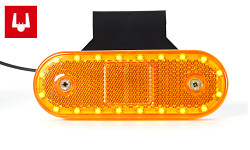 Poziční svítilna boční oranžová 534ZJ LED s s konektorem