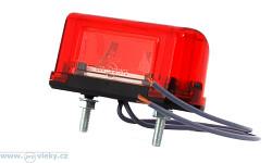 Osvětlení SPZ červené W53Z