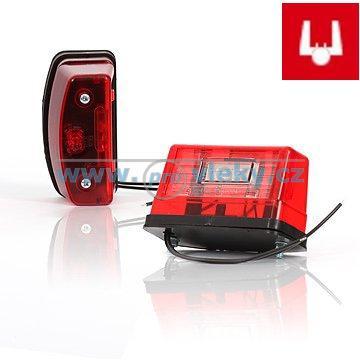 Osvětlení SPZ W55 LED červené