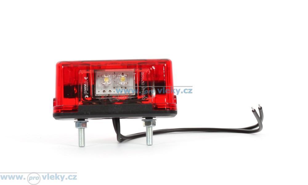 Osvětlení SPZ W53 LED červené