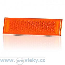 Odrazka UP oranžová 126x34mm samolepící