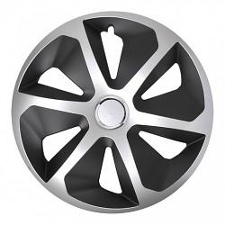 """Kryt disku kola přívěsu 14"""" stříbrno černý"""