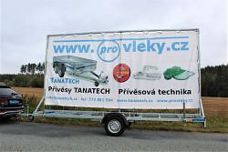 Reklamní přívěs UNK Eurobillboard 5,1x2,4m 750kg