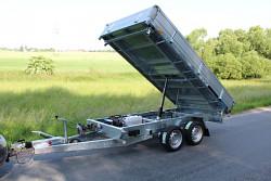 Přívěs Kipper 320/2 3500kg E 3-stranný sklápěč