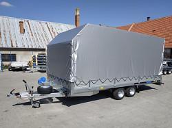 """Přívěs MARTZ GT 450 valník + plachta 2700kg 10""""kola 450x216cm"""