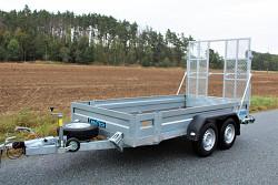 Přívěs UNK pro stavební stroje 3500kg 1,8x3,5m
