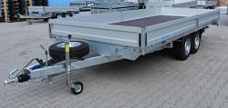 Přívěs UNK 2200x5000 valník 3500kg ALU bočnice, nájezdy + naviják