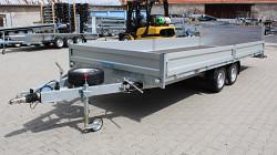 Přívěs UNK AD2100x5000 valník rampa sklopný 3500kg