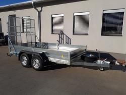 Přívěs UNK pro stavební stroje 3500kg 1,8x4m