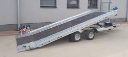 Přívěs UNK AD2100x4100 plato sklopné rampa 2700kg