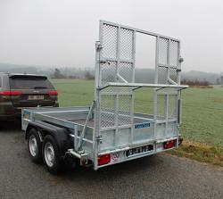 Přívěs UNK pro stavební stroje 3500kg 1,8x3m