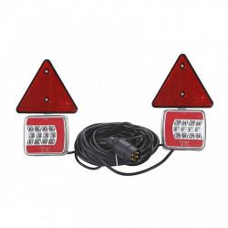 Predlžovací svetelná sada magnet LED 12V, 7,5m, trojuholník