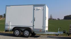 Přívěs Tomplan překližkový TFD 300.01 2000kg rampa+dveře